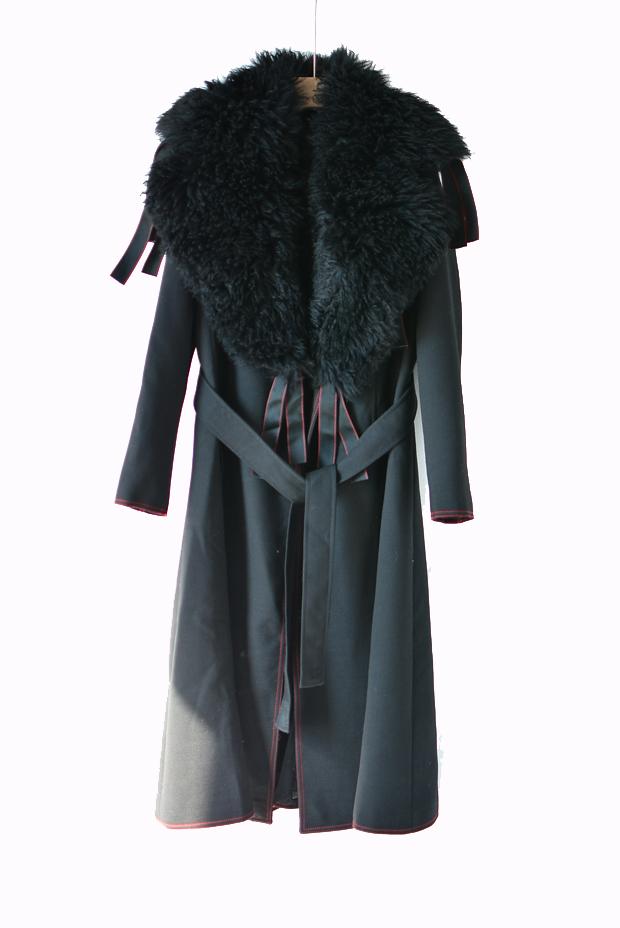 深圳南油设计师品牌中长款大牌厚重磅手工羊毛毛呢大衣双面呢大衣