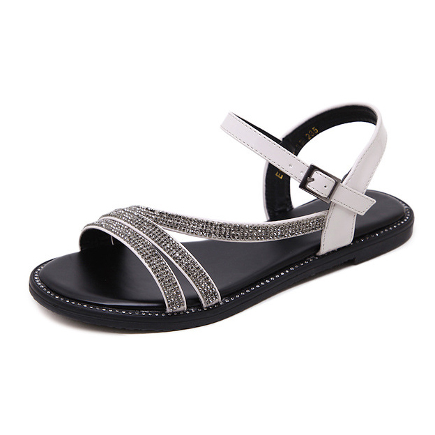 nickel-flat sandals gray