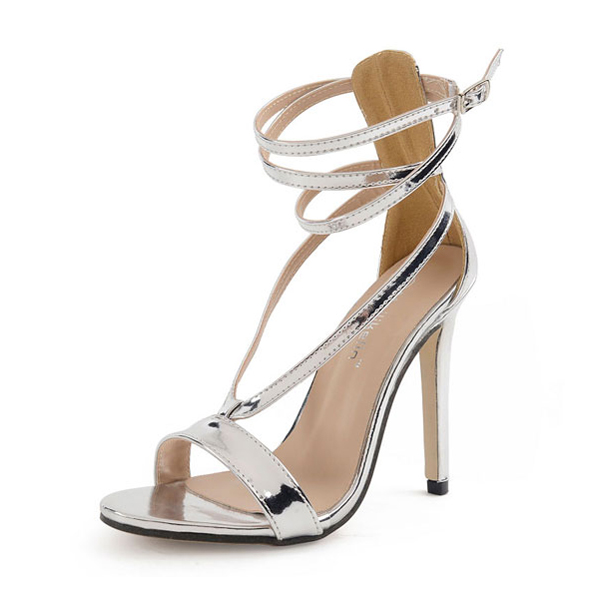 Small silver belt sandals