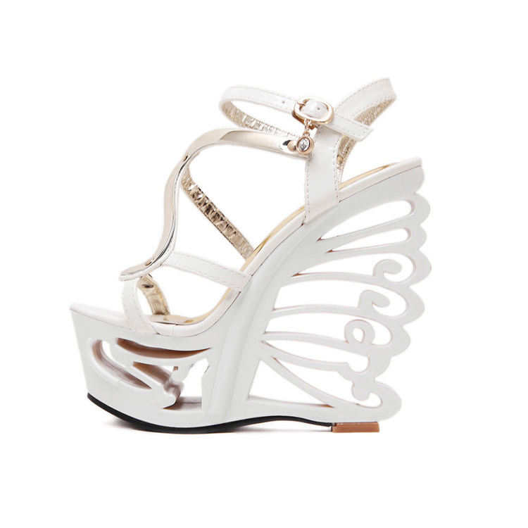 Hollow heel sandals
