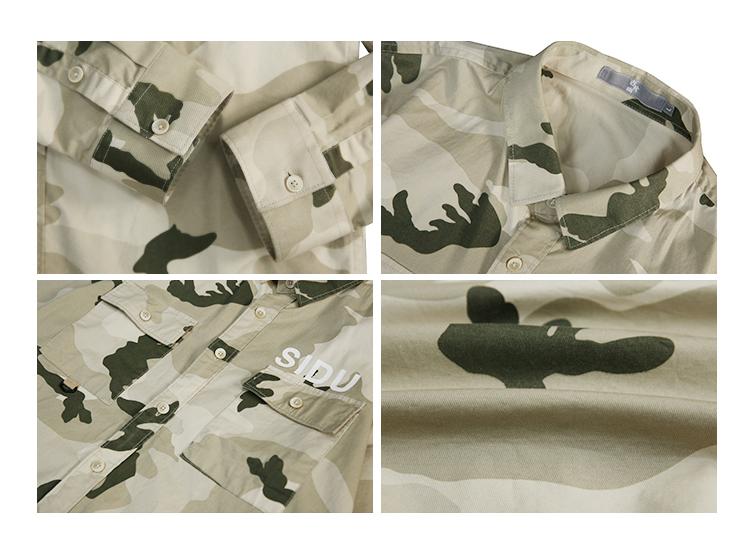 Long-sleeved workwear camouflage shirt men's wave brand Japanese casual American retro autumn loose trend shirt jacket 28 Online shopping Bangladesh