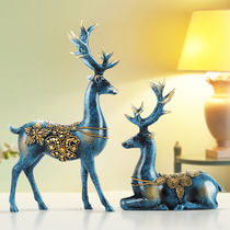 Couple Deer European room bedroom living room decorations decoration home creativity