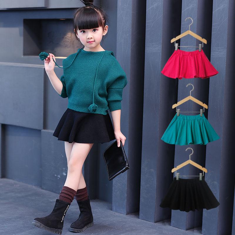 Ребятишки девочки юбка весна 2018 новый корейский ребенок юбка-брюки летний костюм хлопок в больших детей для предотвращения задирается. юбка