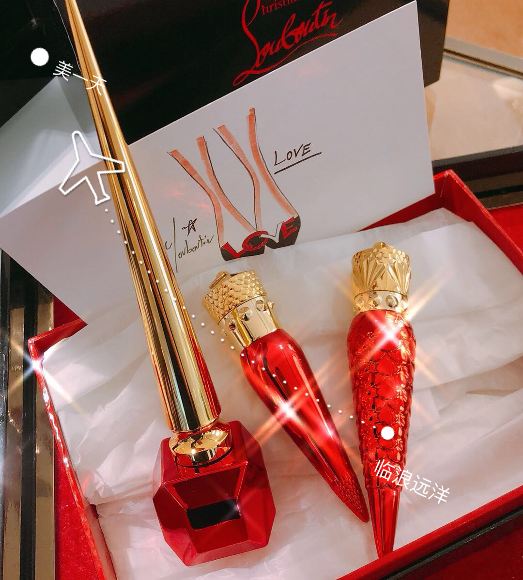 d9aa6ef2003 Christian Louboutin spot CL radish Ding lipstick counter genuine limited  edition 001m lettering