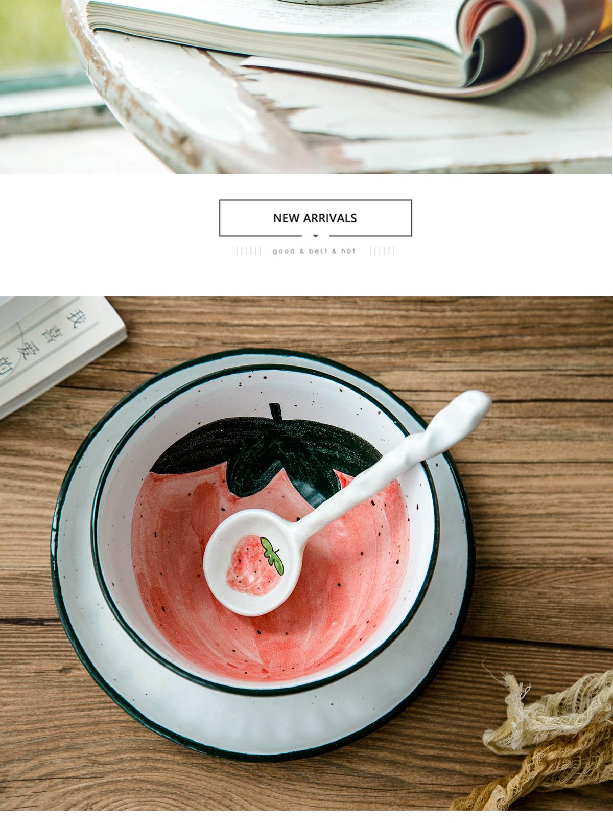 原来是泥日式橘子大面碗盘子水杯子勺子景德镇餐具套组一人食家用详细照片