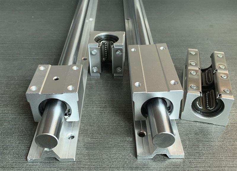 高速直线导轨,光轴,铝托导轨 加硬铝托圆柱直线导轨SBR 滑轨滑块(图2)