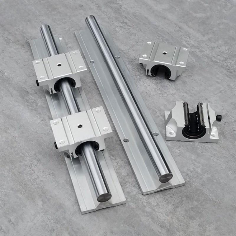 TBR圆柱铝托导轨 直线光轴滑道16/20/25/30木工燕尾导轨箱式滑块(图7)