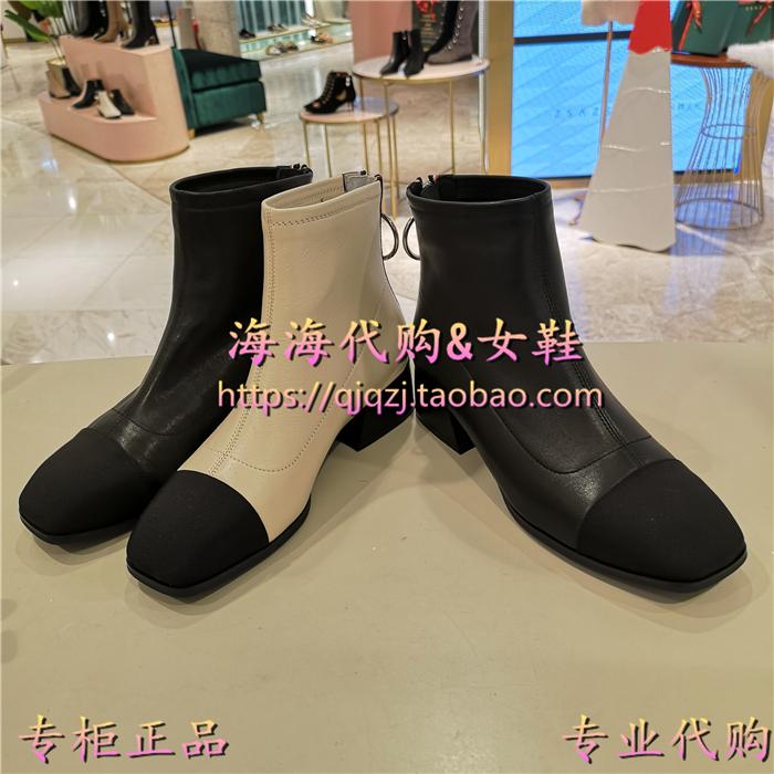 TATA/他她2018冬款女中筒靴女鞋正品国内代购AGLENF0101DENF01DD8