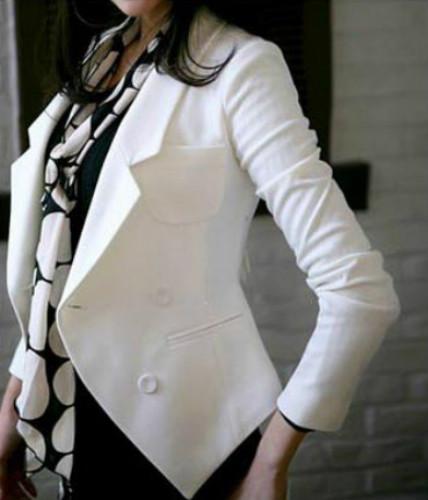 14春秋新品修身女式小西装长袖韩版上衣西服显瘦小女士短外套女装