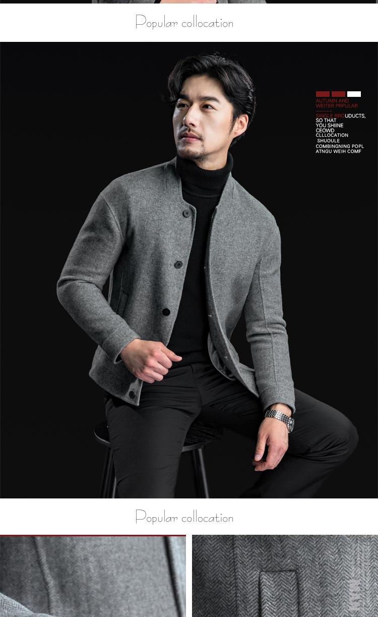Mùa xuân và mùa thu Nhật Bản đôi phải đối mặt với cashmere áo khoác ngắn của người đàn ông áo len mỏng áo khoác len