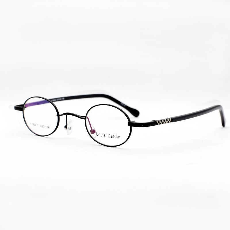 c4b0315bb26 ... Ultra-small round frame glasses for men and women with high myopia flat  decorative metal