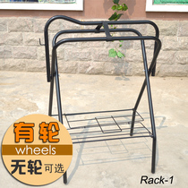 Saddle Rack saddle Shelf Western giant horse with equestrian supplies