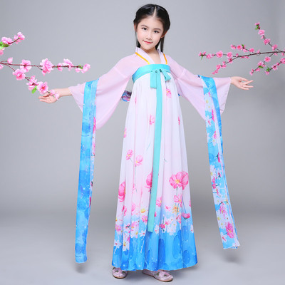 Children's costume fairy dresses, children's princess costumes, guzheng performance costumes