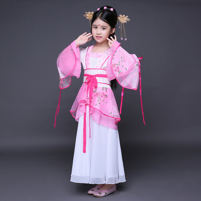 Children ancient costume dress Han costume performing princess Tang Dynasty Princess ancient fairy.