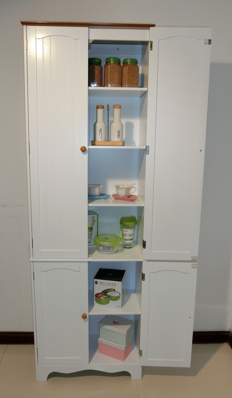 Kitchen pantry linen storage cabinet cupboard bathroom cabinet hc 004 ebay - Bathroom pantry cabinets ...