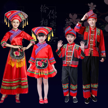 New Zhuang Costumes Adult mens and womens song Wei Festival Guangxi Minority