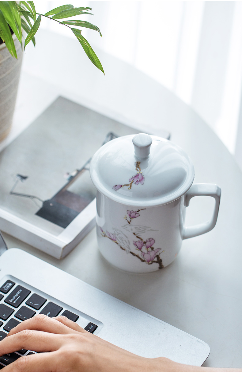 Analyzes teacups hand - made exquisite paint ceramic cups office leisure filtering cup does not affect the normal use