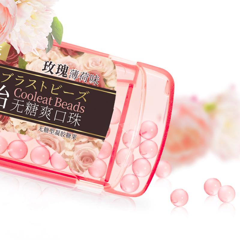富味玫瑰液体薄荷珠爆珠糖 玫瑰薄荷糖 接吻糖清新口气24颗4卡_领取10元天猫超市优惠券