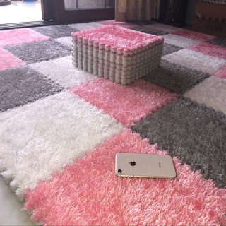 Four Seasons General suede stitching net red carpet puzzle foam mat tatami mat flooring bedroom full machine wash