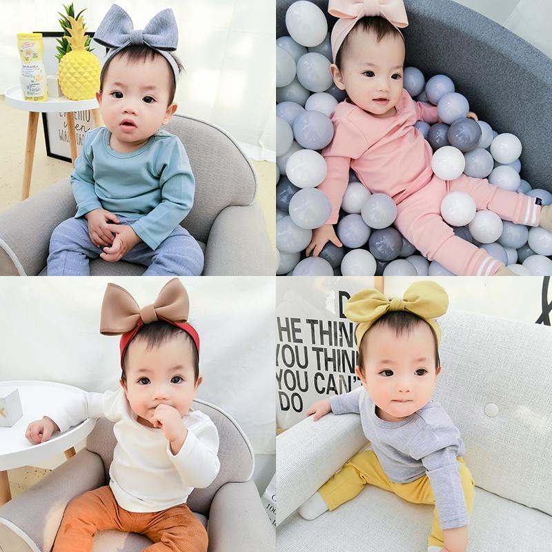 蓓莱乐春秋女婴儿衣服1个月3男宝宝时尚T恤打底衫秋冬装睡衣冬季