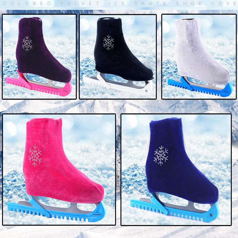 Фигурное покрытие для обуви корейский Бархатный ботинок для катающегося на коньках