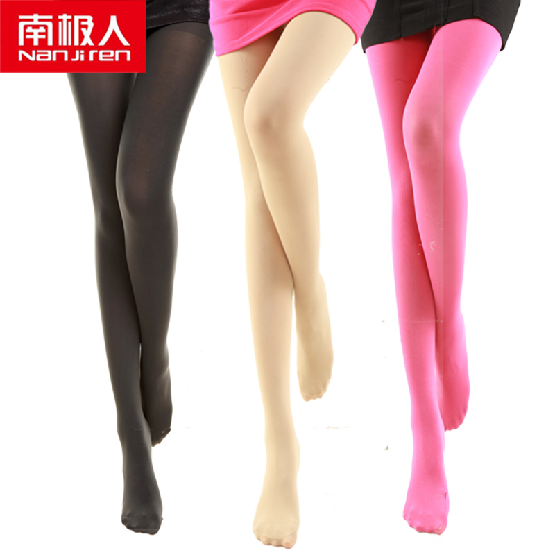 15e97dc2f Antarctic stockings pantyhose anti-hook silk spring and autumn thick meat  color base socks female thin section Siamese foot thin legs