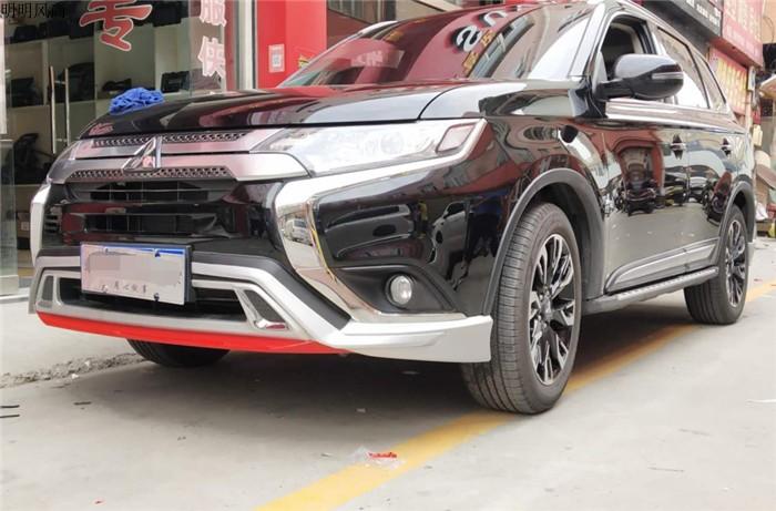 Bộ ốp cản trước và sau Mitsubishi Oulander 2019 - ảnh 14