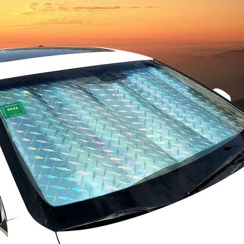 汽车遮阳挡镭射款防晒隔热半身车罩车衣