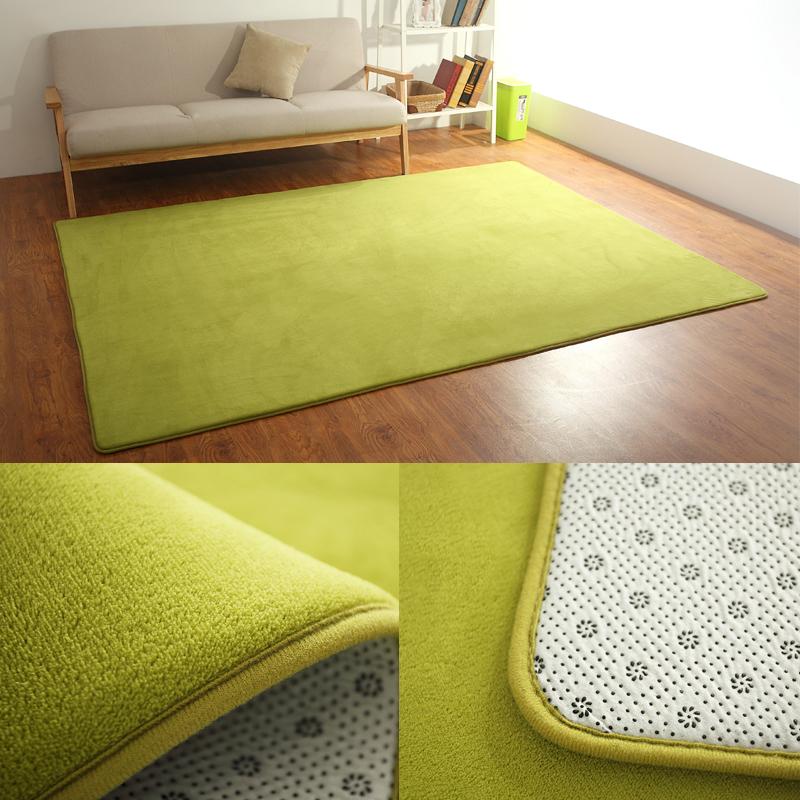 卧室绒欧式珊瑚简约现代茶几垫地毯沙发定制满铺榻榻米床边绿客厅