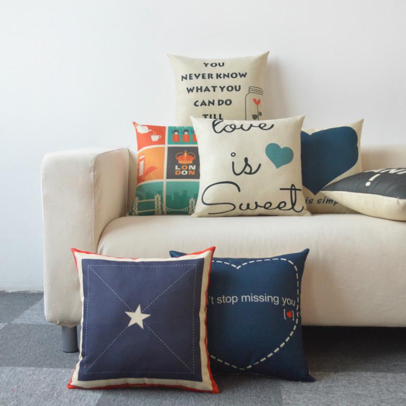 创意北欧棉麻抱枕