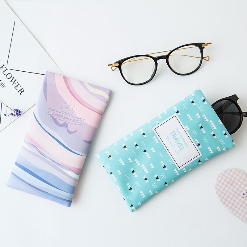 Солнце очки сын портативный зеркало сумка путешествие хранение разбираться малый пакет свежий царапина слова глаз мобильный телефон защитный кожух