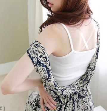 性感白色色吊带胸内裹胸百搭半截短袖打底吊带小背心长期有货