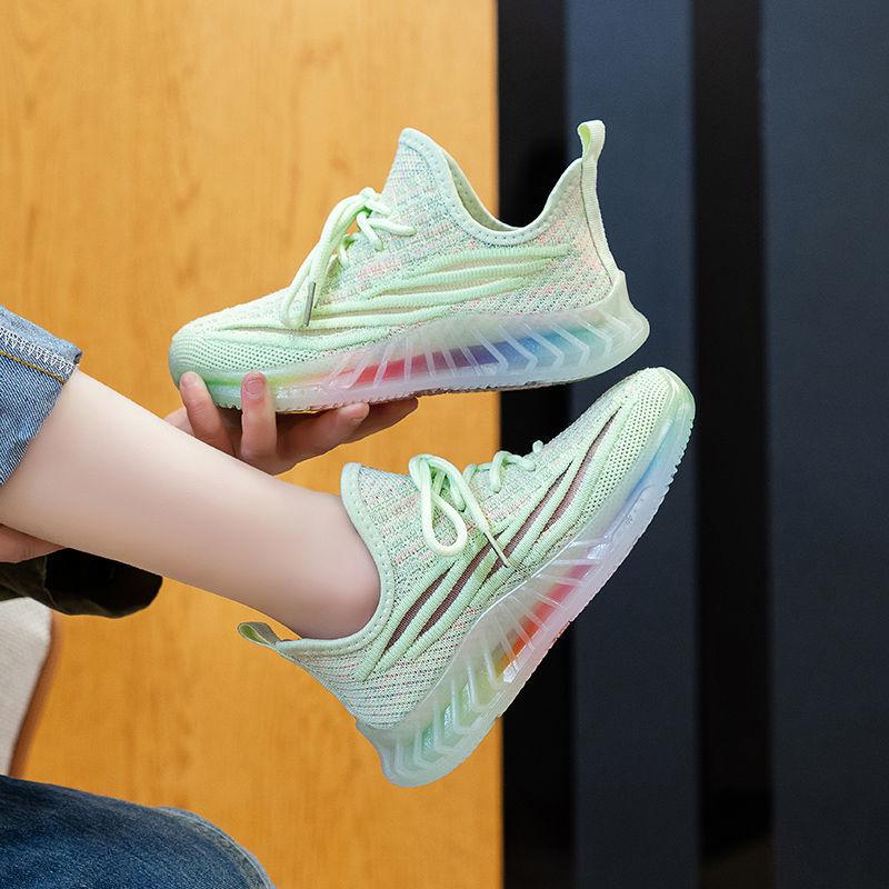 51儿童运动鞋2021春夏新款男童透气网鞋女童潮椰子鞋中大童跑步鞋
