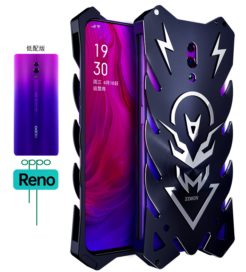 SIMON New THOR II Aviation Aluminum Alloy Shockproof Armor Metal Case Cover for OPPO Reno