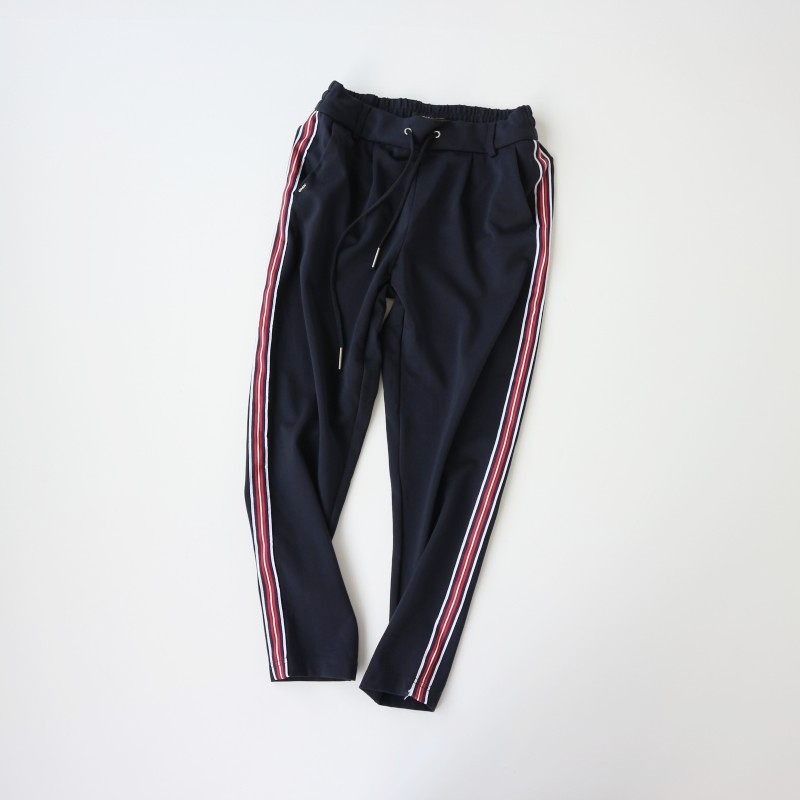 80 women's 2021 spring and autumn new side strips hit color casual pants popular wild sportswear pants