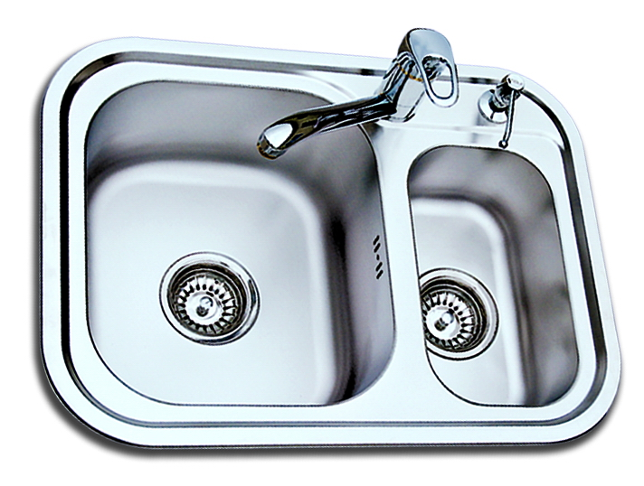 USD 147.63] SUS304 stainless steel small double slot sink kitchen ...