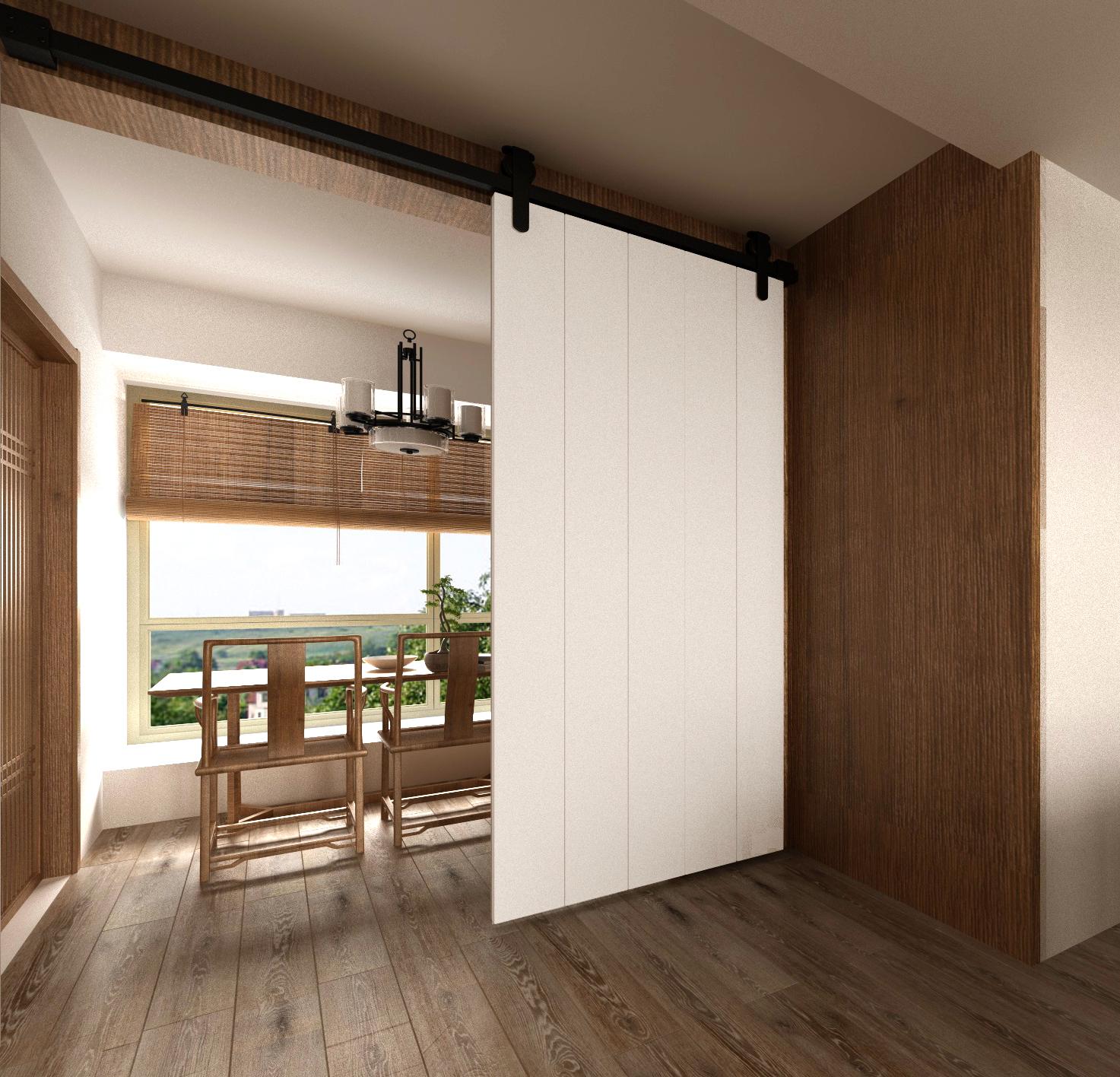 Solid Wood Barn Door Sliding Door American Kitchen Door Bathroom