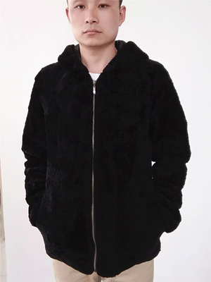 Lông một người đàn ông da trùm đầu da cừu xén lông len lông thú chống mặc áo khoác nữ áo mùa đông