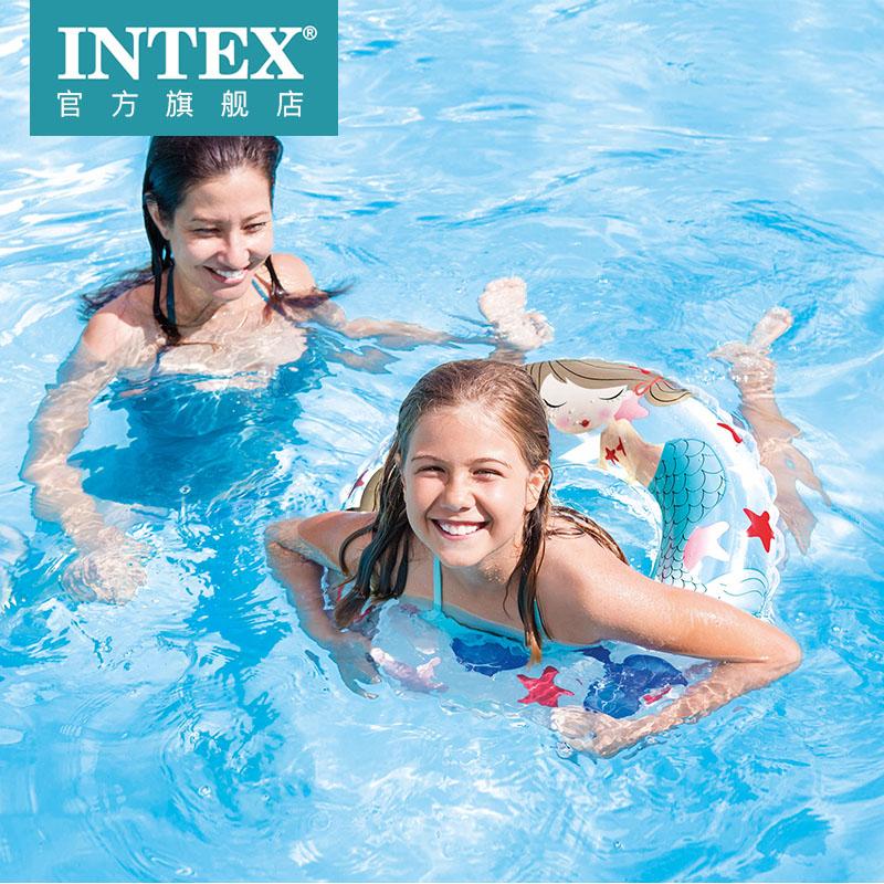 intex造型v造型圈婴儿多儿童动物浮圈充气玩具泳圈戏水腋下圈