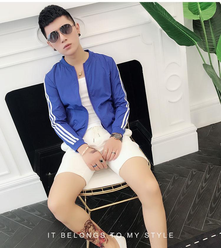 Mùa hè mặt trời bảo vệ quần áo của nam giới thường áo khoác mỏng 2018 mới của Hàn Quốc phiên bản của thủy triều chàng trai thoáng khí đẹp trai mặt trời bảo vệ quần áo áo khoác