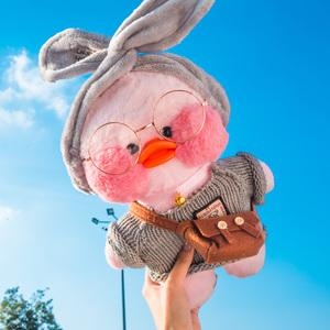 网红玻尿酸鸭子沙雕复读鸭会说话的毛绒玩具玩偶公仔小黄生日礼物