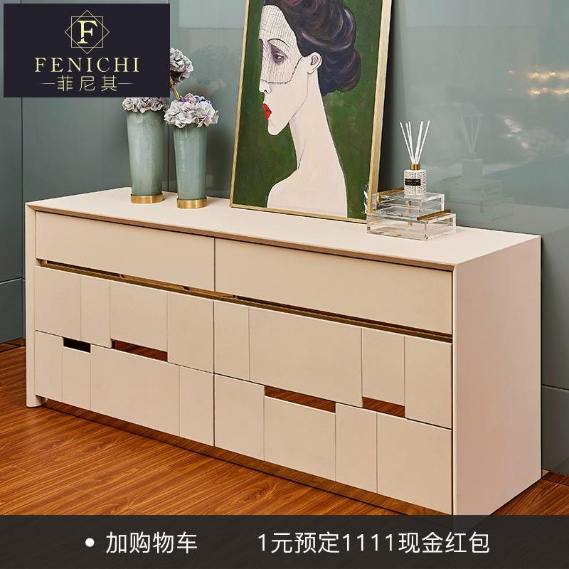 ТВ шкаф, спальня, простая кровать хвост Кабинет итальянского творчества высокая стиль Шкаф светлый, роскошный декоративный шкаф Visionnaire