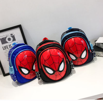 Spider-Man Book Pupil Male 3D Stereo Kindergarten Children's Packets 3-6 years old 1-3-5 years old Wear