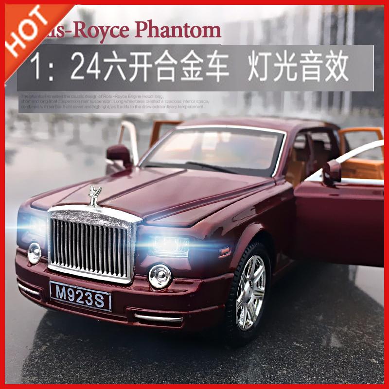 Original 1:24 Mercedes-Benz Rolls-Royce Big G extended car model six door simulation alloy car boy toy