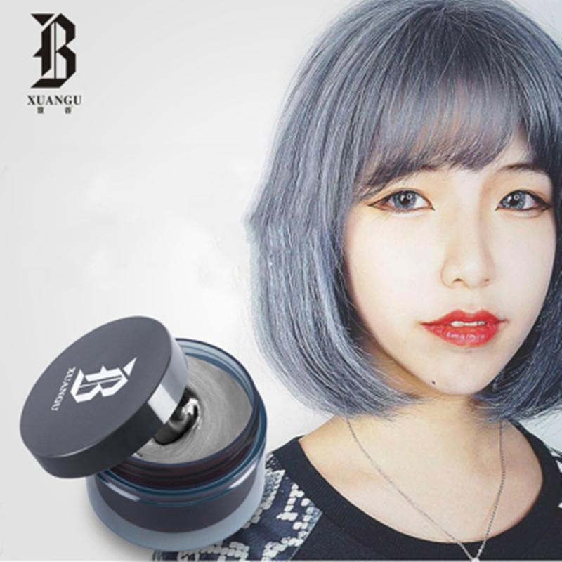 宣谷奶奶灰发泥银灰色塑造发型男女彩色发蜡干胶发胶喷雾多色可选