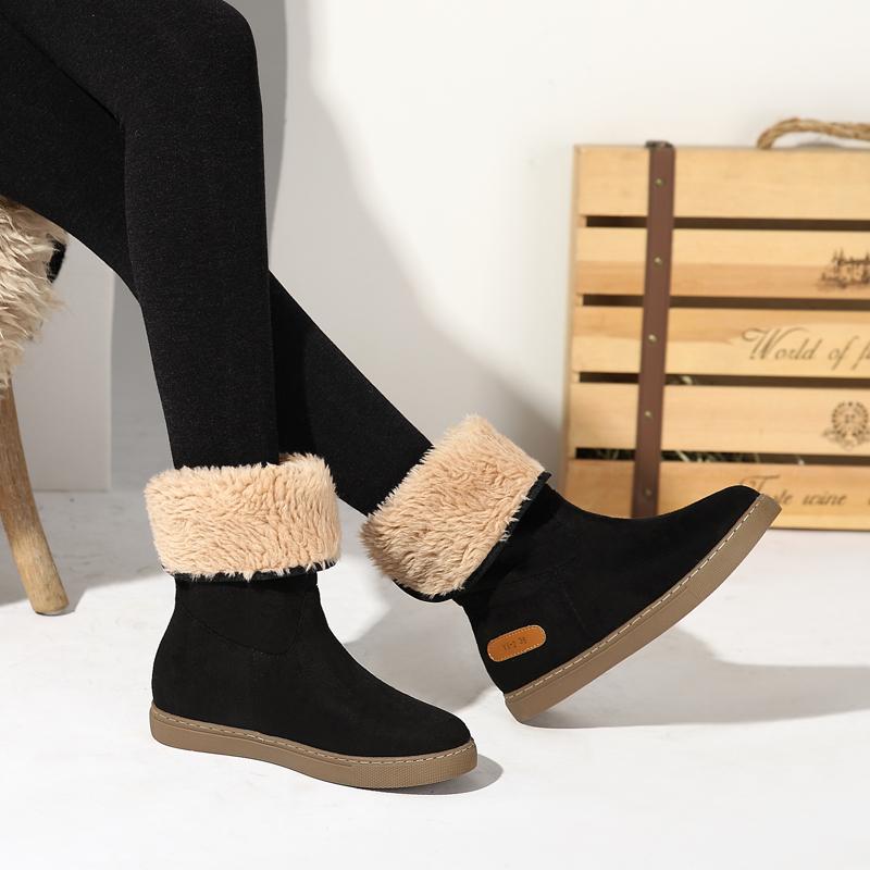 雪地靴女2018新款平底中筒靴棉鞋女冬加绒加厚百搭韩版防滑短靴女
