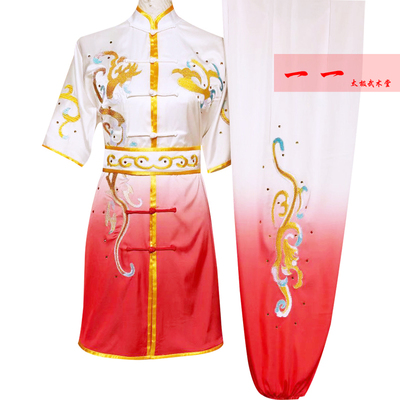 Martial Arts Clothes  Kungfu clothes Short-sleeved high-grade martial arts clothes Wushu performance clothes Changquan competition clothes Group children exercise clothes performance clothes