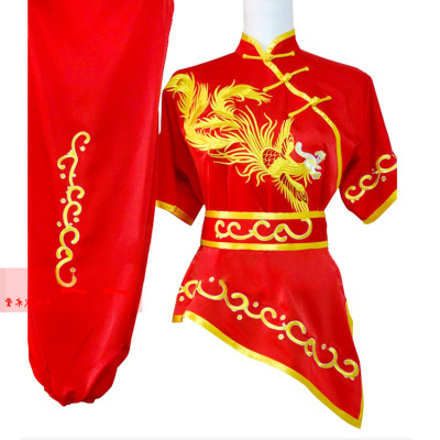 Martial Arts Clothes  Kungfu clothes Short-sleeved martial arts costume, high-quality martial arts costume, embroidered Phoenix martial arts costume, women long boxing Costume
