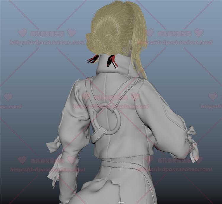 紫罗兰永恒花园角色人物3D模型 Zbrush雕刻 Maya 次世代游戏美术