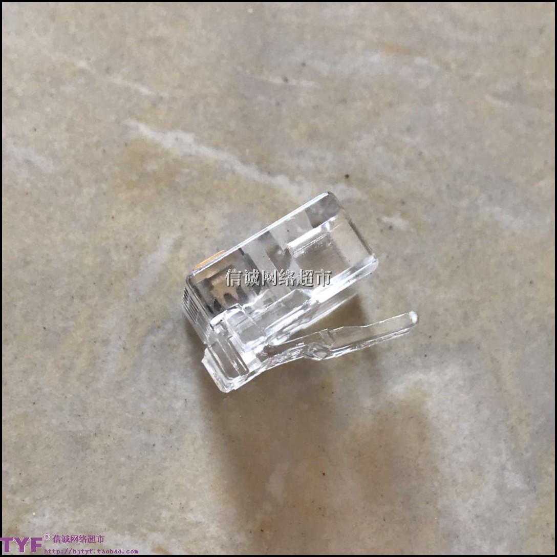 коннектор для сетевого кабеля Высокого качества выдвиженческие солнечные RJ11 Телефон кристалл голову 6p4c Телефон новый материал позолоченные большой запас